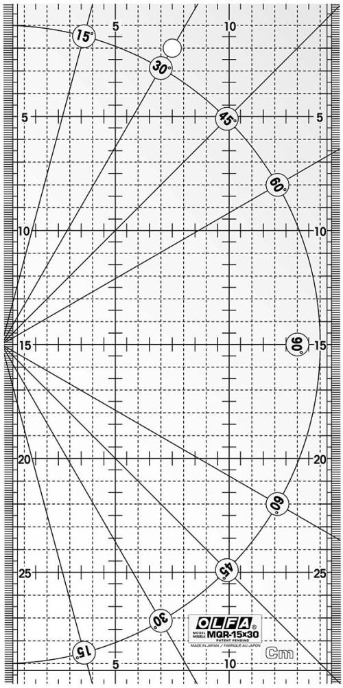 Squadra patchwork Olfa 15x30cm