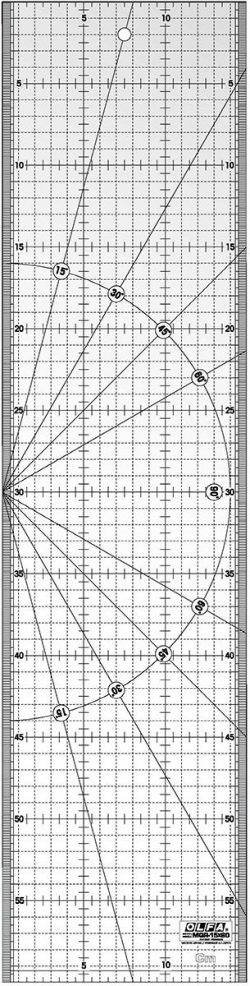 Squadra patchwork Olfa 15x60cm