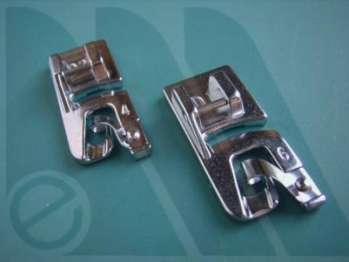 Suola Janome orlo piatto 4 e 6mm per rotative 7mm (blister bipack)