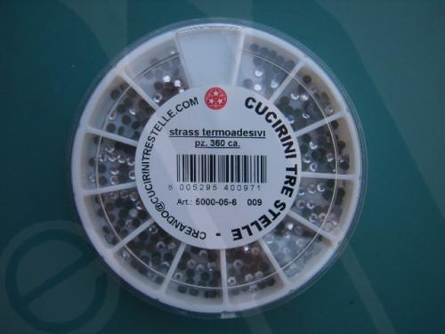 Confezione strass termoadesivi mm. 3