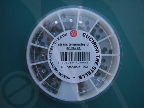 Confezione strass termoadesivi mm. 4