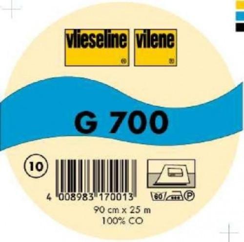 Interfodera termoadesiva tessuto Freudenberg G700 nero 90 cm x 25 cm