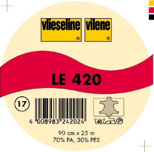Interfodera termoadesiva Freudenberg LE420 grafite 90 cm x 25 mt