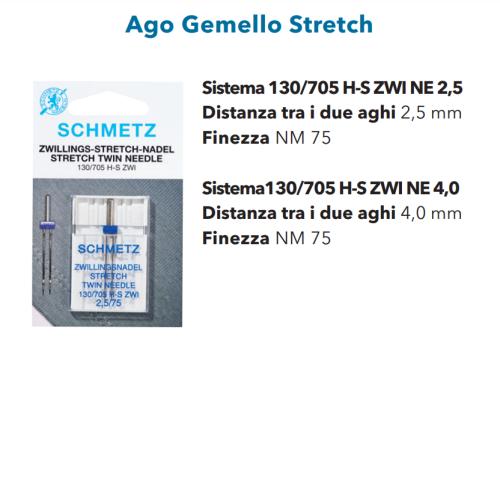 Aghi Gemelli 4mm Stretch n. 75