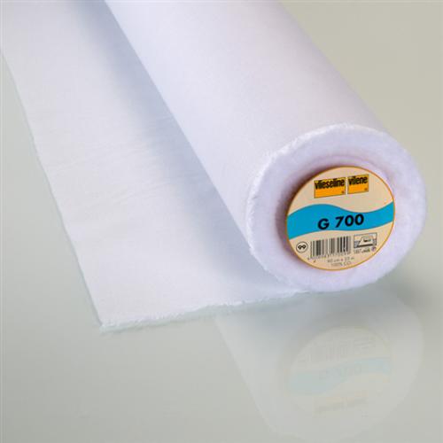 Interfodera termoadesiva tessuto Freudenberg G700 bianco 90 cm x 25 cm