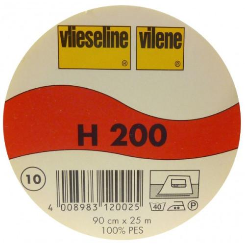 Interfodera termoadesiva Freudenberg H200 bianco 90 cm x 25 cm