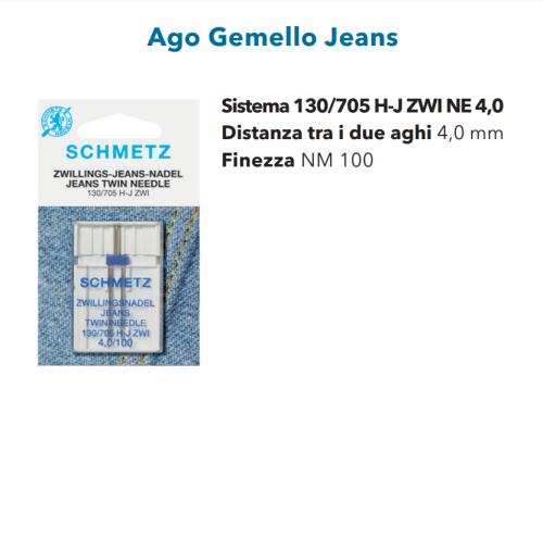 Aghi Gemelli 4.0mm Jeans n.100