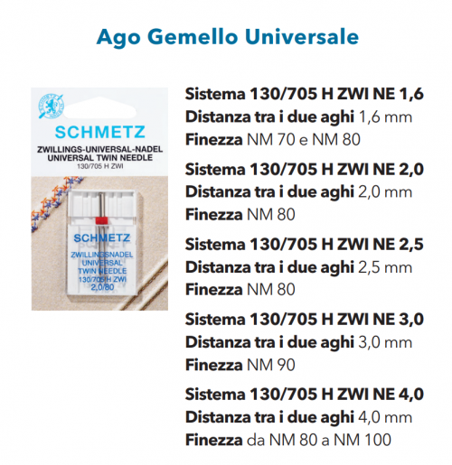 Aghi Gemelli 3mm n. 90