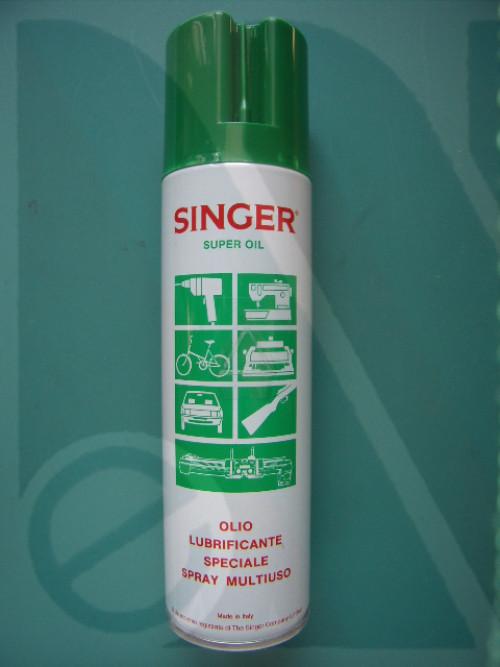 Bombola olio spray Singer 250ml