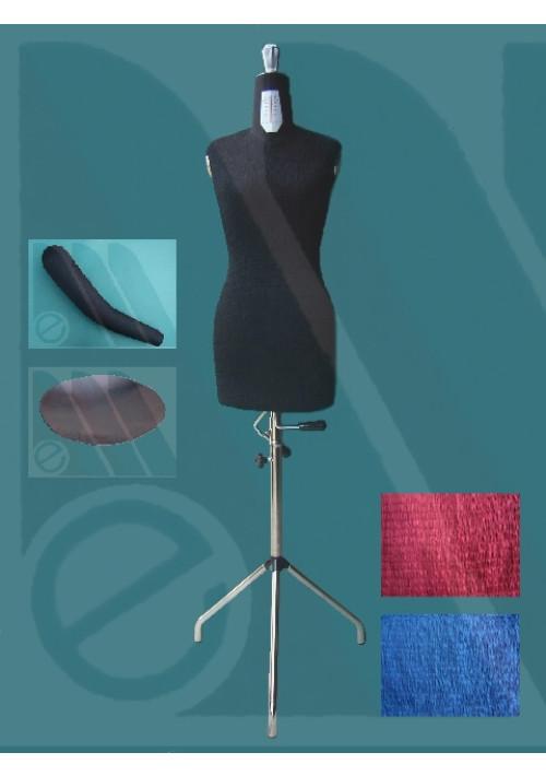 Manichino sarta regolabile donna maggiorato con braccio tg. 46-58
