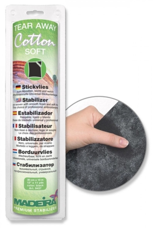 Rotolo Madeira Cotton Soft nero 30 cm x 10 mt