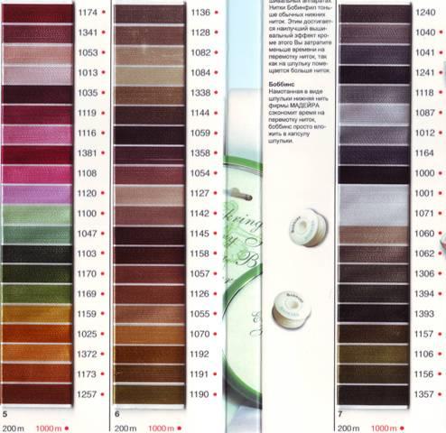 Tabella colori Rayon 2